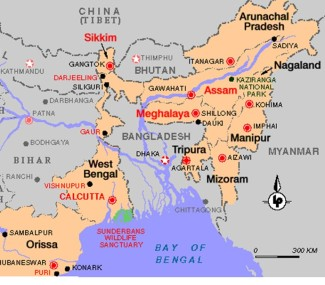 N E India